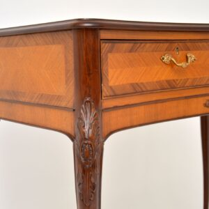 antique french inlaid rosewood side console server table