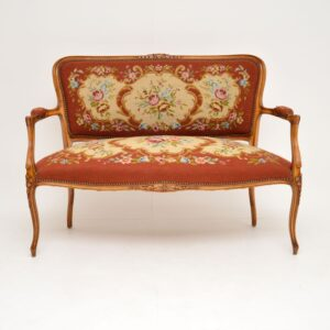 antique french tapestry salon sofa