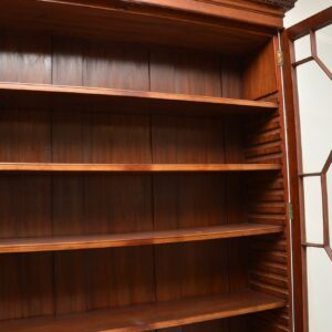 antique georgian period mahogany brass bookcase