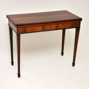 antique mahogany georgian period card table