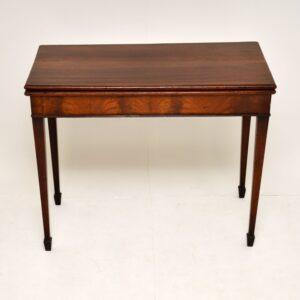 antique mahogany georgian period card table
