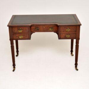 antique georgian mahogany leather writing table desk