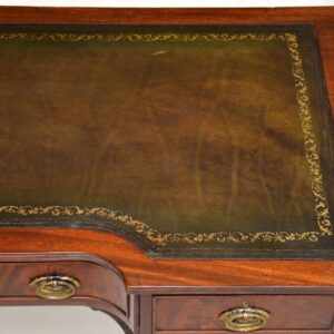 antique georgian mahogany leather writing table desk