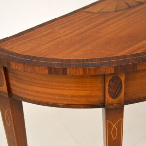 antique inlaid mahogany sheraton style console side table