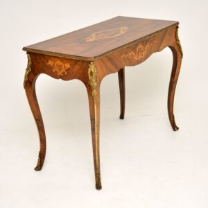 antique french inlaid rosewood console side table