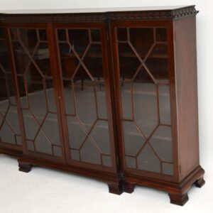 antique victorian georgian mahogany breakfront dwarf bookcase