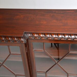 Antique Mahogany Chippendale Style Breakfront Dwarf Bookcase
