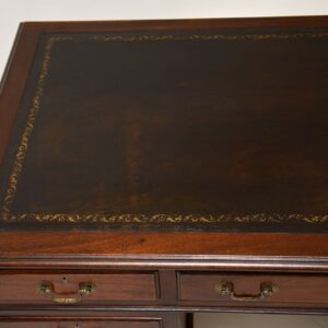 antique georgian mahogany pedestal desk