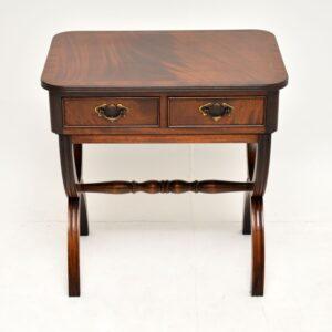antique regency mahogany side table