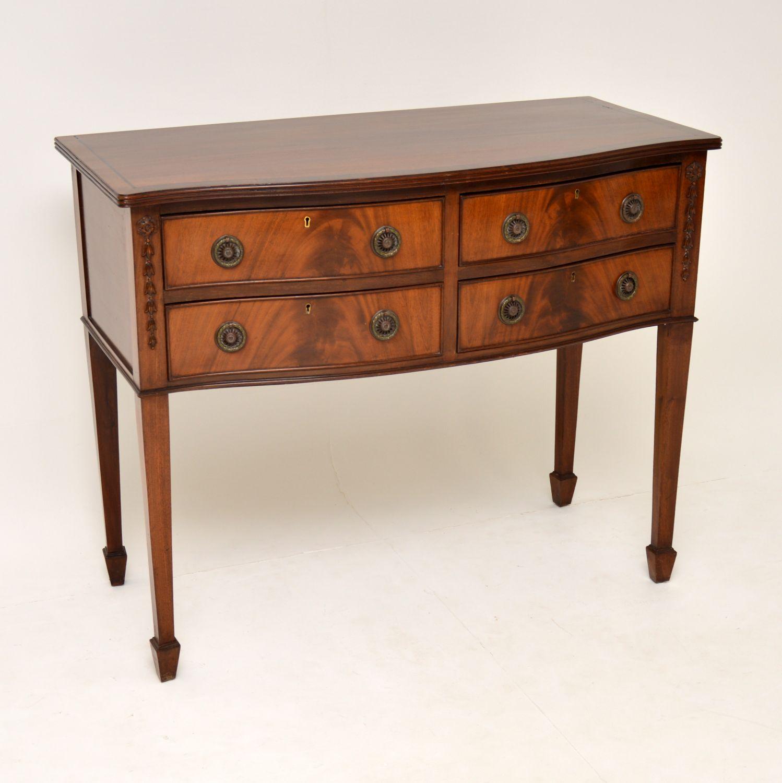 antique mahogany sideboard server table