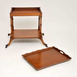 antique regency mahogany drinks trolley side table