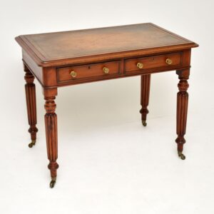 antique victorian william fourth mahogany leather top desk writing table