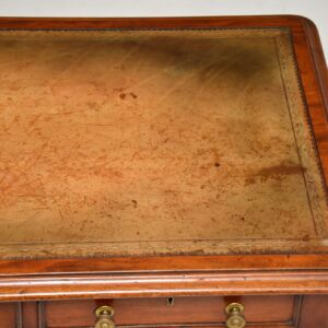antique victorian mahogany leather top desk writing table