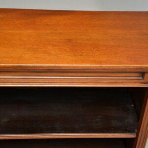 Antique Victorian Walnut Open Bookcase