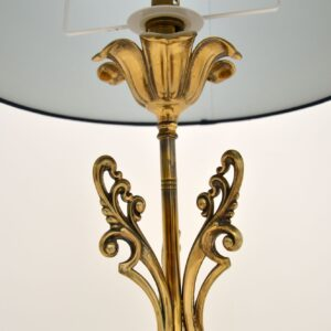 antique vintage brass italian table lamp