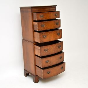 antique georgian walnut chest on chest of drawers