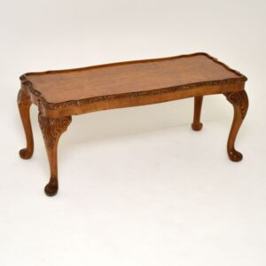 antique walnut queen anne coffee table
