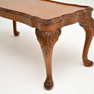 antique walnut queen anne coffee table