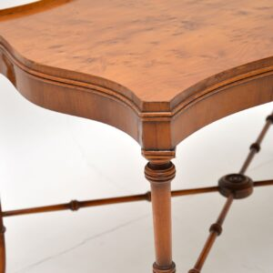 antique yew wood coffee table
