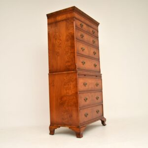 antique elm walnut chest on chest of drawers