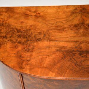 antique burr walnut cabinet on legs