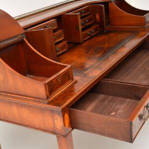 Antique Burr Walnut Carlton House Desk