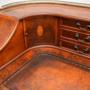 antique walnut leather carlton house desk