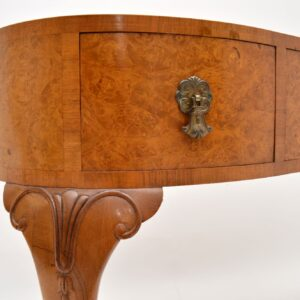 antique burr walnut kidney desk dressing table waring and gillows