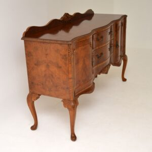 antique burr walnut queen anne sideboard