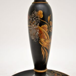 antique chinese lacquered chinoiserie lamp