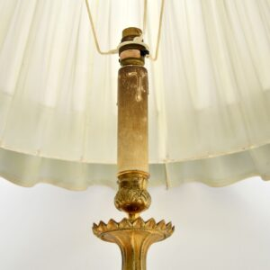 Antique Neoclassical French Gilt Brass Floor Lamp