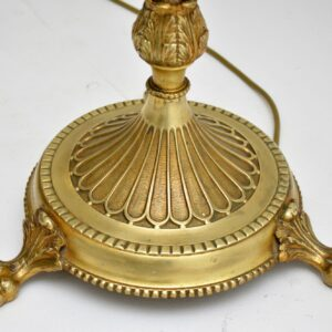 antique french gilt metal lamp