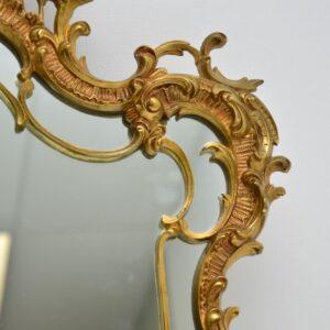 antique french gilt metal brass mirror