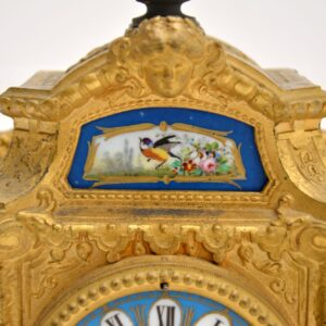 antique french gilt metal clock brunfaut