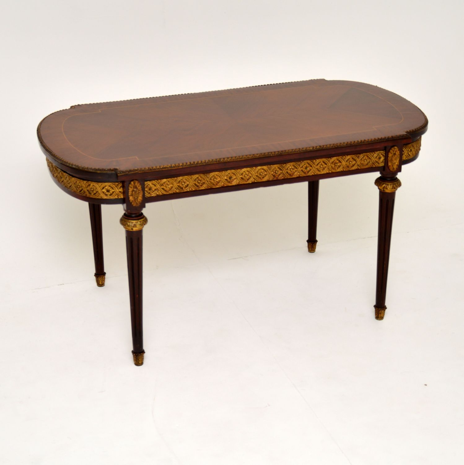 antique french king wood coffee table