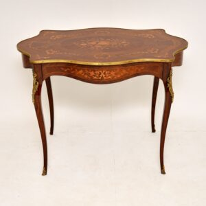 antique french inlaid marquetry writing desk bureau plat