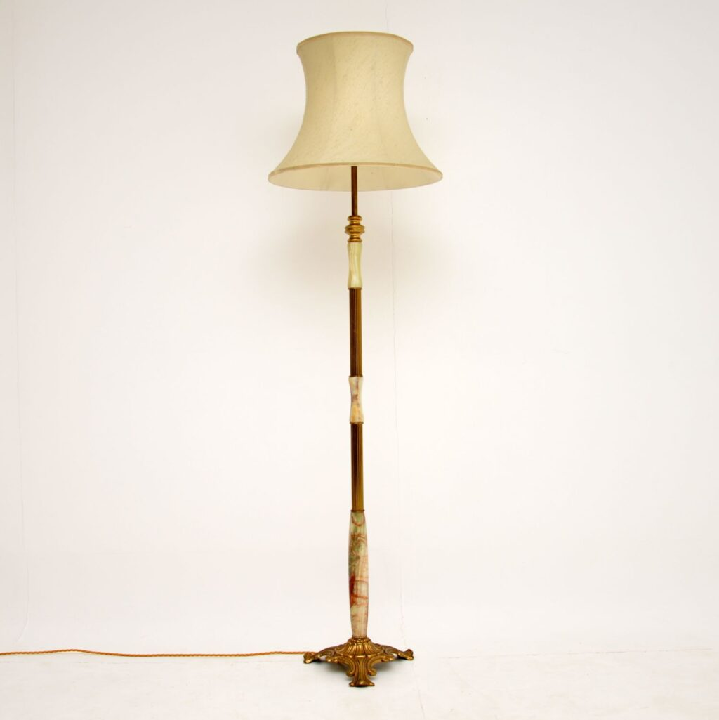 antique fremch onyx brass gilt metal lamp