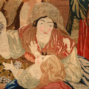 antique hand stitched needlepoint tapestry