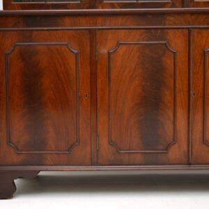 antique georgian mahogany bookcase