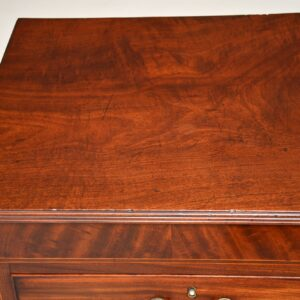 antique georgian inlaid mahogany chest of drawers
