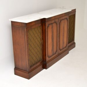 antique mahogany grill front marble top sideboard