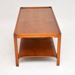 antique georgian yew wood coffee table