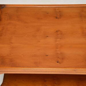 Antique Georgian Style Large Yew Wood Coffee Table