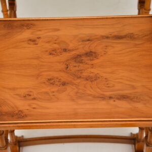 antique yew wood nest of tables