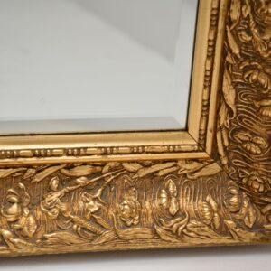 antique french carved gilt wood mirror