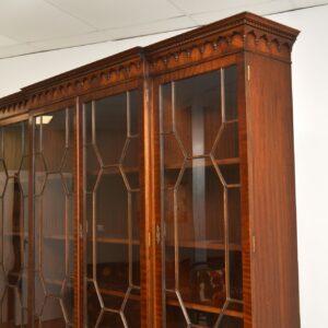 antique georgian mahogany breakfront bookcase