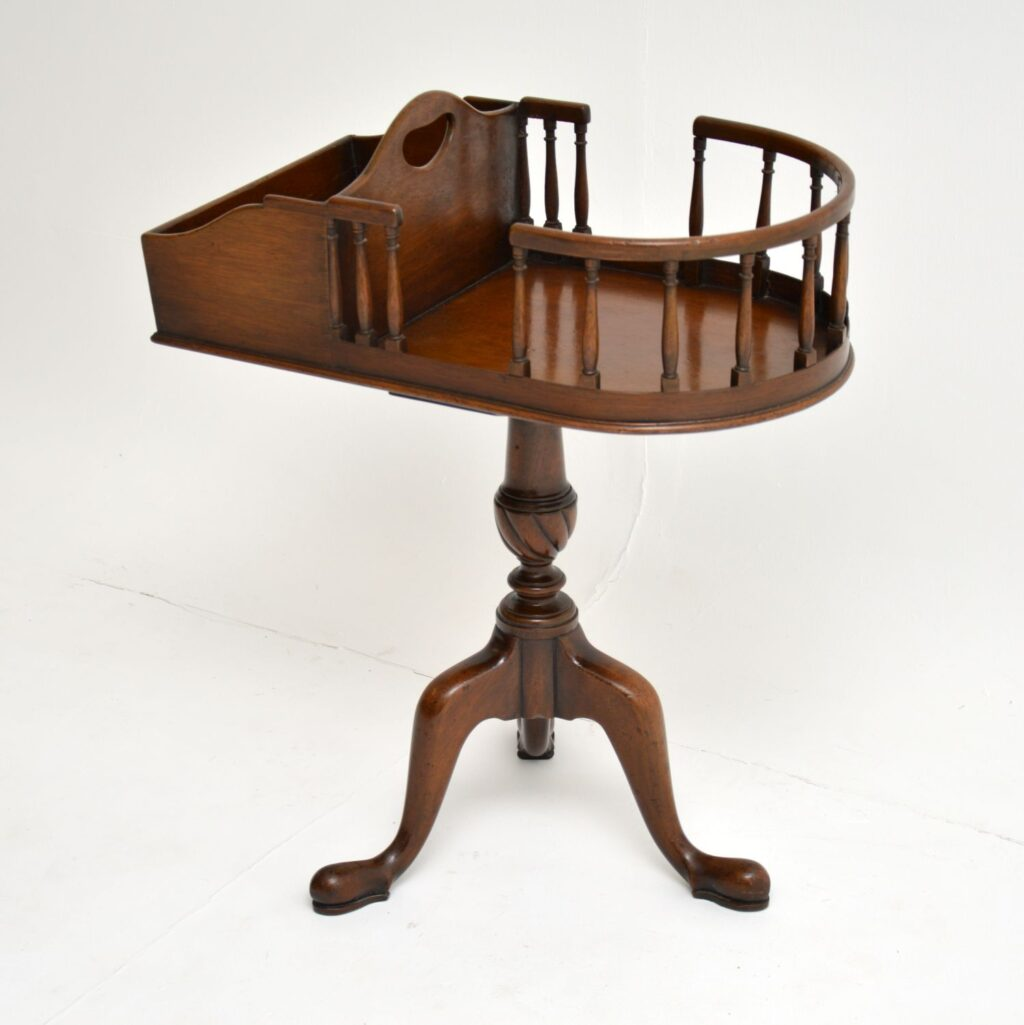 antique mahogany side wine telephone table
