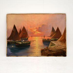 antique italian impressionist painting carlo casati