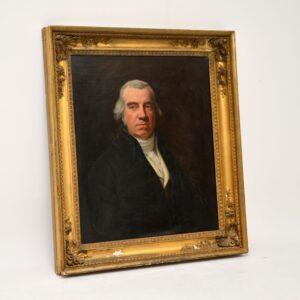 antique oil painting portrait