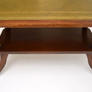antique mahogany leather regency coffee table